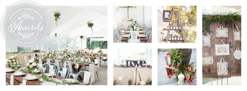 vancouver island wedding award voted best decor  trend decor