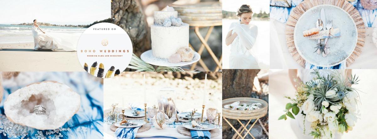 indigo geod bohemian beach wedding