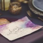 purple watercolour invitations