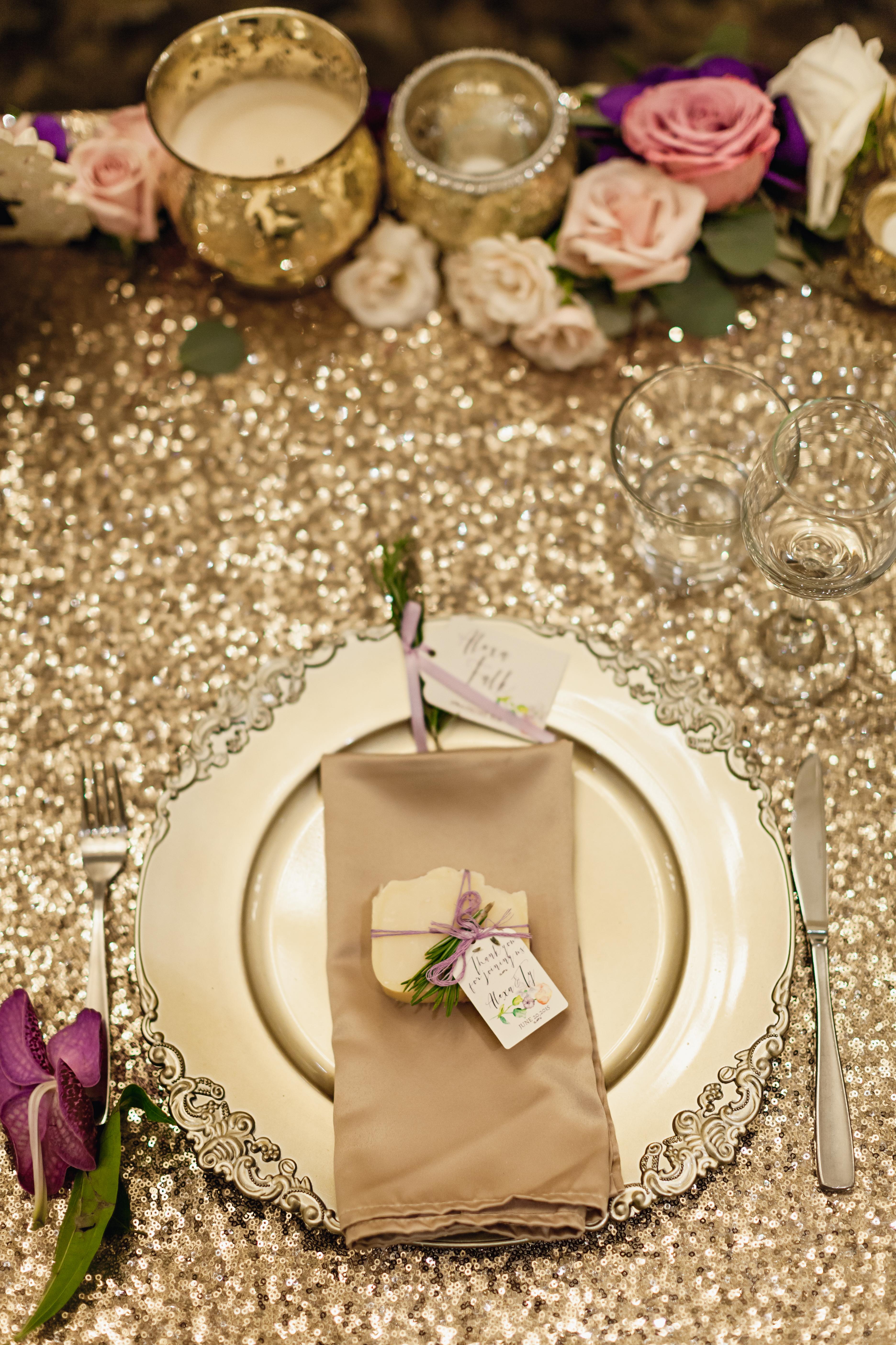 lavender and champagne gold destination wedding victoria, bc