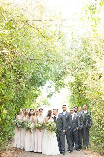 bridal party shots seacider orchard wedding