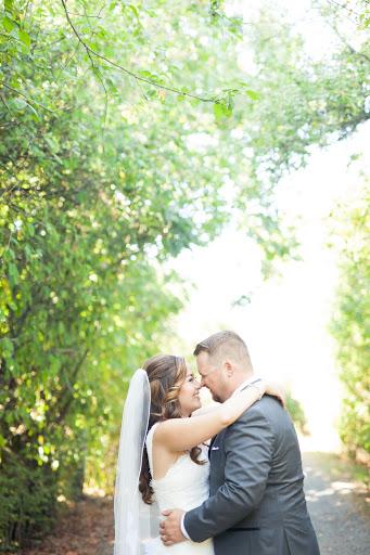bride and groom sea cider orchard wedding