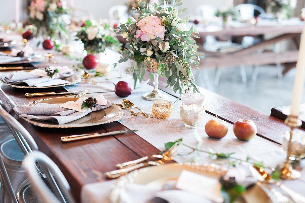 harvest table apple reception