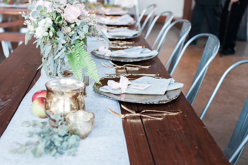 reception harvest apple rustic wedding details