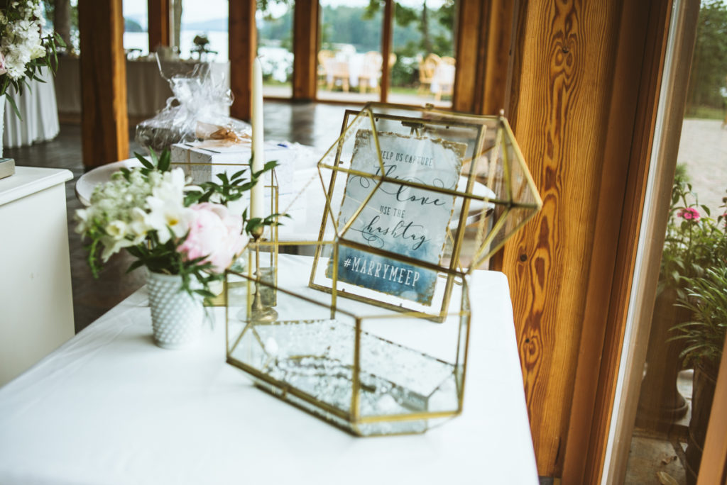 glass terrarium box for envelopes