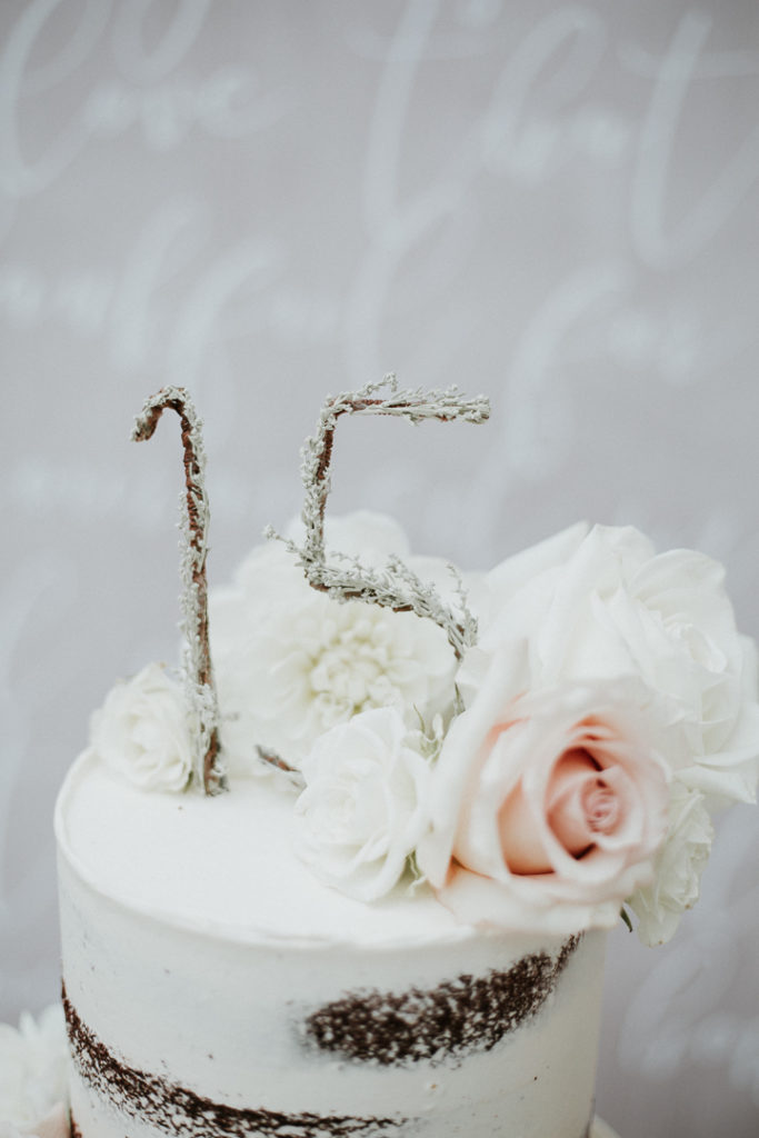 15 birthday rustic cake topper